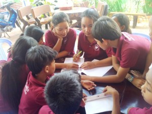 Students concentrating